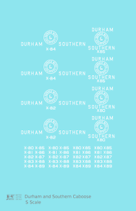 K4-S-Decals-Durham-and-Southern-Caboose-White