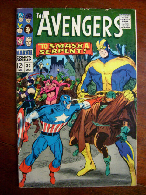 Avengers #33 (1966 Marvel) Capt America Giant Man Classic Silver Age 5.0 VG/FN