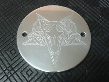 CNC ENGRAVED BAPHOMET PENTAGRAM TIMER IGNITION COVER 2 HARLEY DAVIDSON BUELL