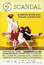"""SCANDAL """"TOUR 2016 YELLOW IN HONG KONG"""" CONCERT POSTER-Garage/Pop/Alt Rock Music"""