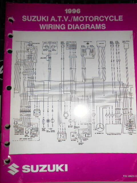 Suzuki Factory Wire Diagram ATV Motorcycle 1996 | eBay