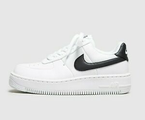 Details about WOMENS NIKE AIR FORCE 1 UPSTEP SIZE 6.5 EUR 40.5 (AV8222 100) WHITE BLACK