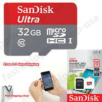 32gb Micro Sd Card Memory Flash Adapter Mini Class 10 Smartphone Tablet Sandisk