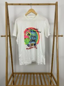 VTG-1993-Panama-The-Land-Divided-The-World-United-July-4th-T-Shirt-Size-L