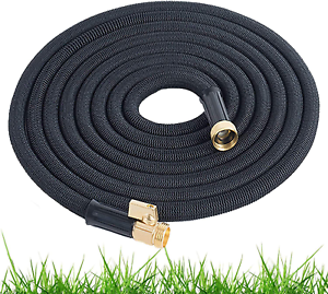 Expandable Garden Hose 100 Ft Long Heavy Duty Water Hose Retractable Black