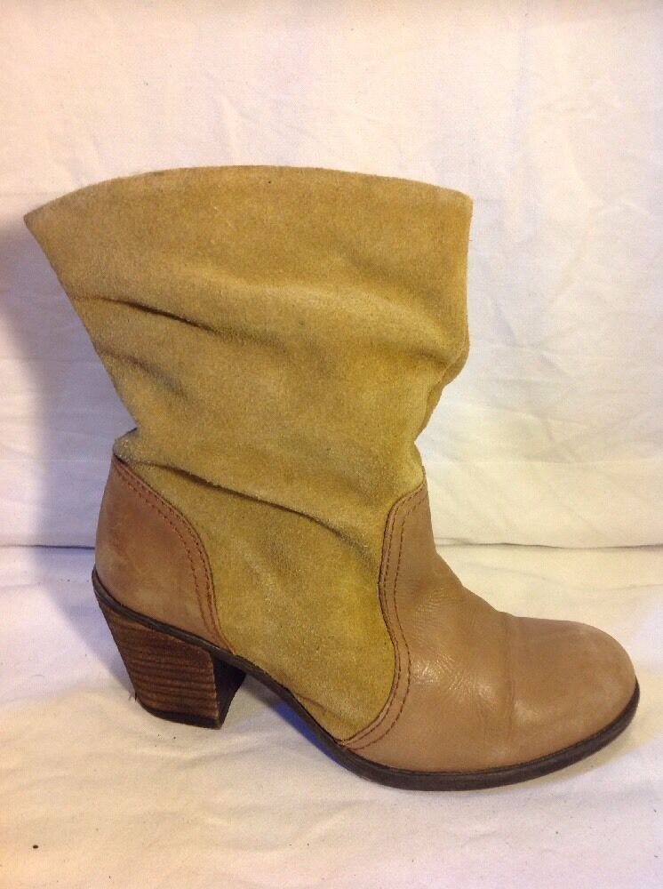South Brown Ankle Leather Boots Size 5