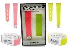 100% Genuine Sony Smart Band Talk Wrist Watch Strap SWR310 Lime Pink Medium