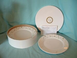 PAMPERED-CHEF-Christmas-Holiday-STARS-8-034-Dessert-Pie-Salad-Plates-1996-NIP
