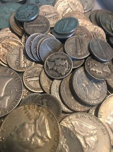 1-Face-Value-90-Junk-Silver-U-S-Coin-Lot-Half-Dollars-Quarters-or-Dimes