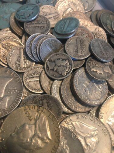 Quarters or Dimes 90/% Junk Silver U.S $1 Face Value Coin Lot Half Dollars