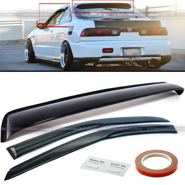 EPARTS Black Tinted ABS Plastic Rear Roof Window Visor Spoiler ...