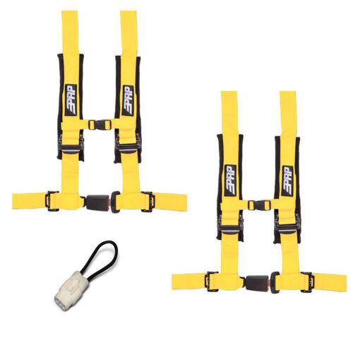 "PRP 4 Point 2/"" Harness Seat Belts Automotive Style Latch Yellow Yamaha YXZ 1000R"
