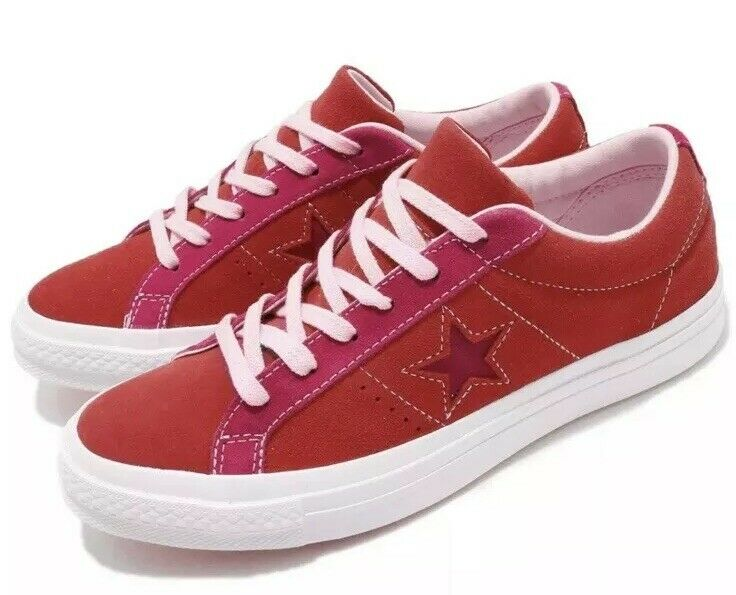 Star Enamel Red Pink Pop Suede Youth