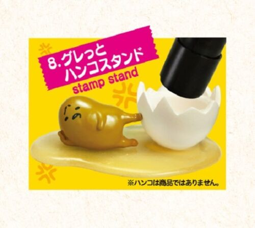 Re-Ment Miniature Sanrio Gudetama Mini Stationery Set # 8 Stamp Stand