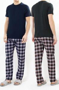 Hombre-Pijamas-Juegos-Clasico-Liso-Pijamas-Prenda-para-dormir-Pantalones-Top
