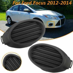 Para-Ford-Focus-2011-2013-par-de-rejilla-lampara-Luz-de-Niebla-Bisel-Cubierta-L-R-lados