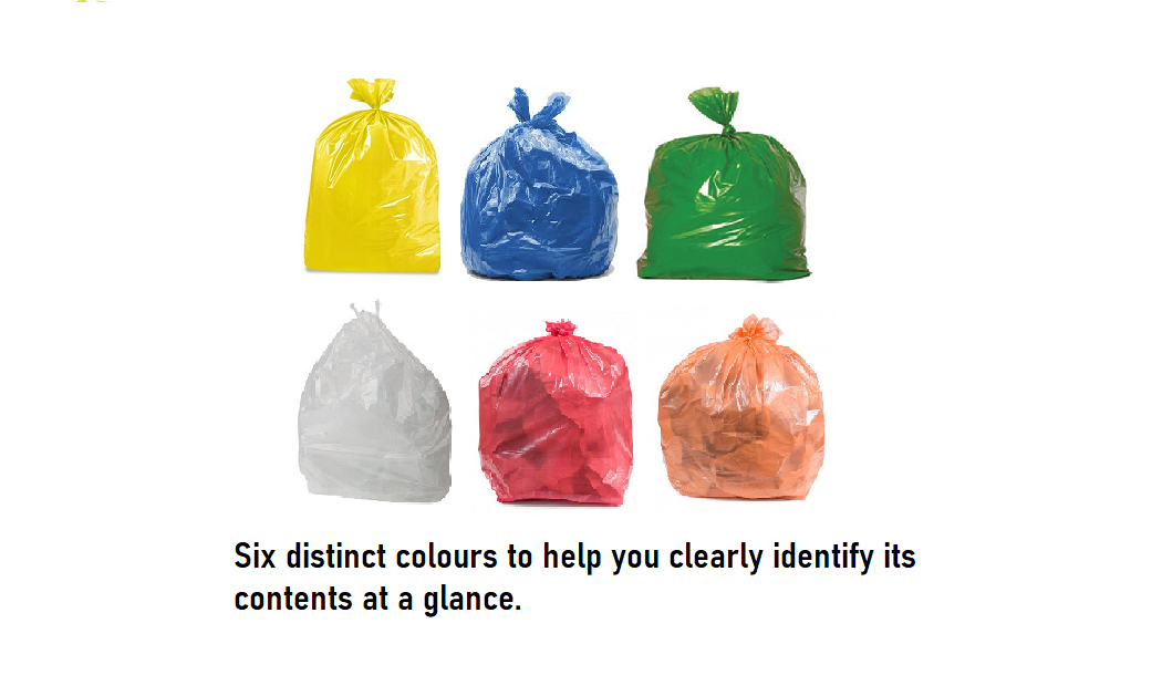 50 Bags All Coloured Refuse Sacks 6 Colours Strong Bin Waste Bags Large Size
