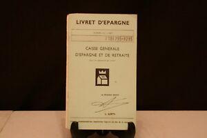 Trempé Ancien Carnet D'Épargne.
