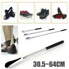 """NEW Extra Long Handle Shoe Horn Stainless Steel 25/"""" Handled Metal Shoehorn Horns"""