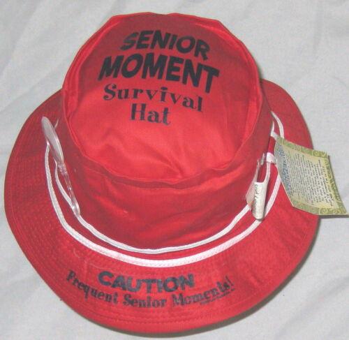 "Humor Red 22"" Senior Moment Survival Hat"
