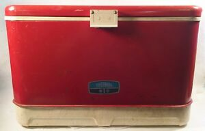 Vintage-Red-Thermos-Ice-Chest