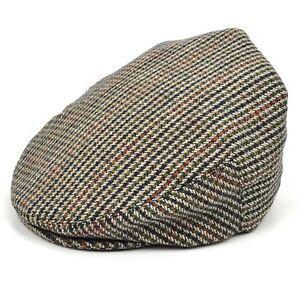 Caricamento dell immagine in corso Cappello -Piatto-Tweed-Country-Classico-Marrone-da-Uomo- ccd1e4f1a7ba