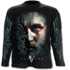 Officially-Licensed-Spiral-Direct-RAGNAR-FACE-Vikings-Long-Sleeve-T-Shirt-Rock