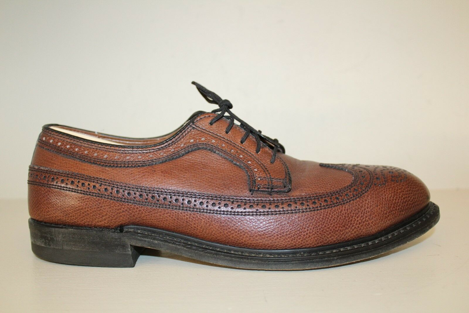 285bb22525d Knapp Mens Oxford shoes Sz D Brown Leather Long Wingtip School USA Made Old  8.5 heburm1039-Men s Casual