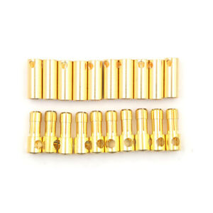 10-Pairs-5-5MM-Gold-Plated-Bullet-Banana-Plugs-Male-amp-Female-Connectors