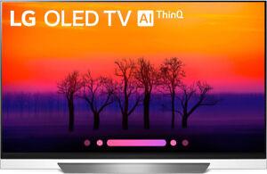 "LG OLED65E8PUA 65"" 2160p 4K HDR OLED Internet TV 2018 Model WTH MANUFACT WRRANTY"