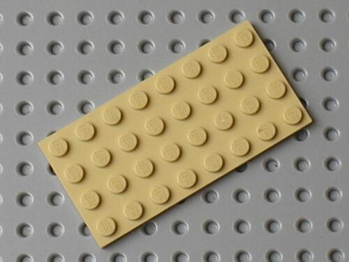 Flat plate lego star wars tan plate 4 x 8 ref 3035//set 8092 10179 7754 7671