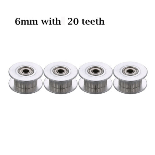 Synchronous 16 //20Teeth Aluminum 3D Printer Parts Timing Pulley Gear Part