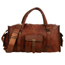 Fair Trade Handmade Extra Large Brown Leather Holdall - 2nd Quality