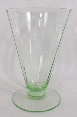 Green Rib Pillar Optic Tumbler Elegant Glass UNKNOWN MAKER PATTERN HELP Good
