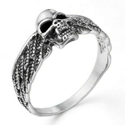 Angel Wing Biker Ring New .925 Sterling Silver Fast Band Sizes 5-12