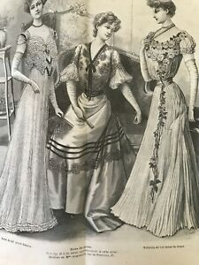 1901 Summer /& wool dress Blouse... MODE ILLUSTREE SEWING PATTERN June 16