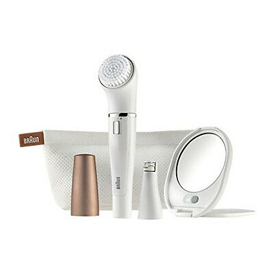 Braun Face 831 Womens Ladies Facial Hair Epilator & Cleansing Brush For Chin Lip
