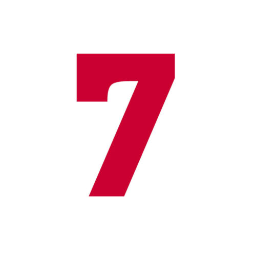 Red Jersey Number Vinyl Heat Transfer Iron-On Sports T-Shirts DIY Parts