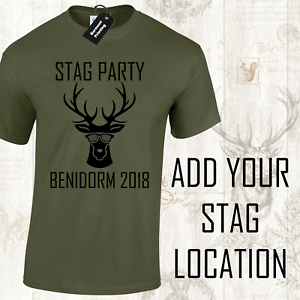 Details about STAG DO FUNNY STAG PARTY MENS T-SHIRTS CUSTOMISED  PERSONALISED JOKE DESIGN (D-5)