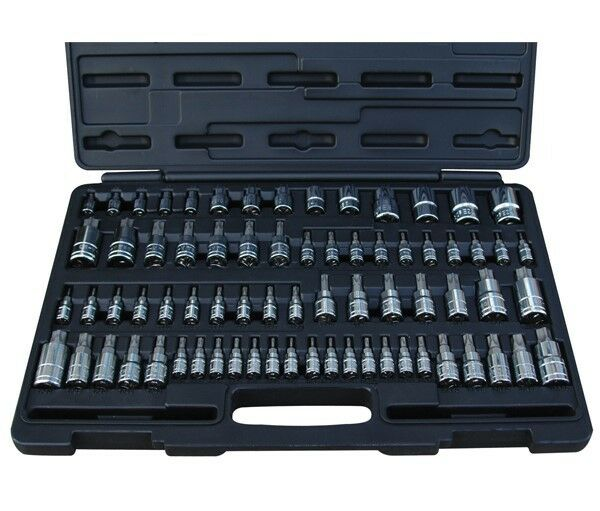 ATD 72pc Master Torx/ Star/ E-Torx/ Ribe/ Torx Plus Bit Socket Set #13772