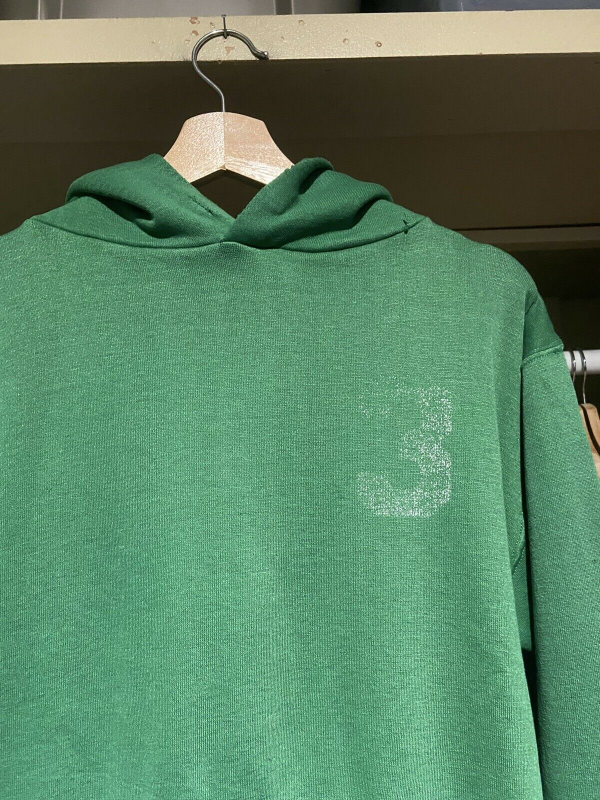 Vintage 70s Russell Athletic Green Pullover Hoodi… - image 2