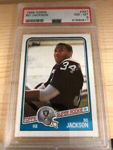 Bo Jackson Rookie 1988 Topps #327 Raiders (PSA 8)