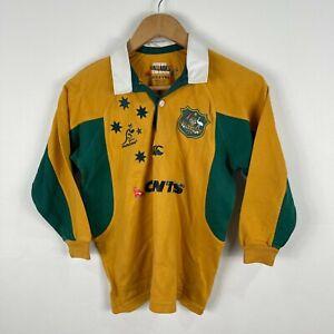 Wallabies-Australian-Rugby-Jersey-Boys-Size-8-Long-Sleeve