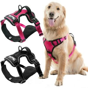 Adjustable-No-Pull-Dog-Pet-Vest-Harness-Leash-Durable-Safety-Control-Front-Click