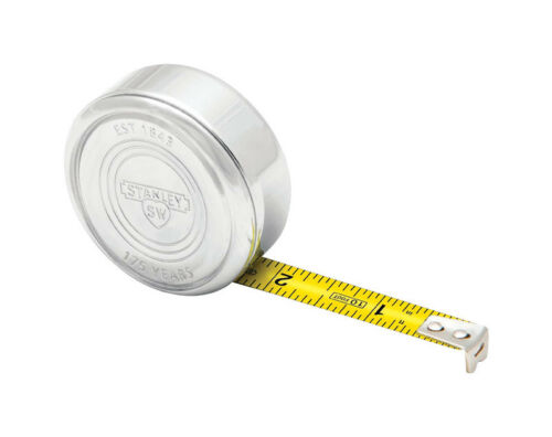 L x 2.25 in W 175th Anniversary Tape Measure Silver Stanley 10 ft