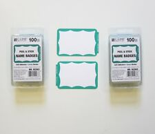 200 Green Border Badges Name Tags Labels Id Stickers Peel And Stick Adhesive