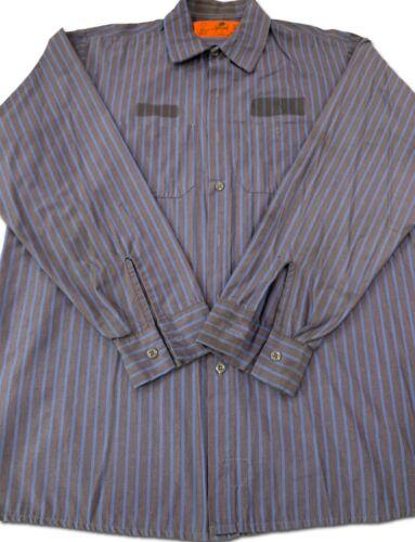 Red Kap Work Shirts 2 Pocket Stripe Poplin Short /& Long Sleeve Uniform #CC