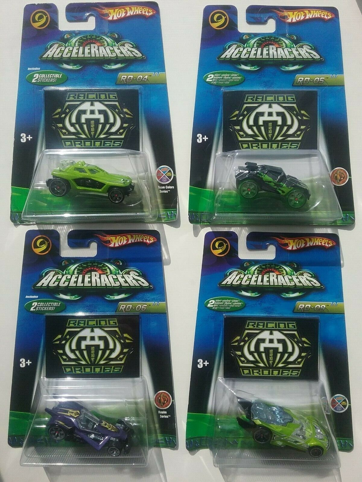 ACCELERACERS Hot Wheels 2006 2nd Gen RACING DRONES Set of 4  New & Free Shipping