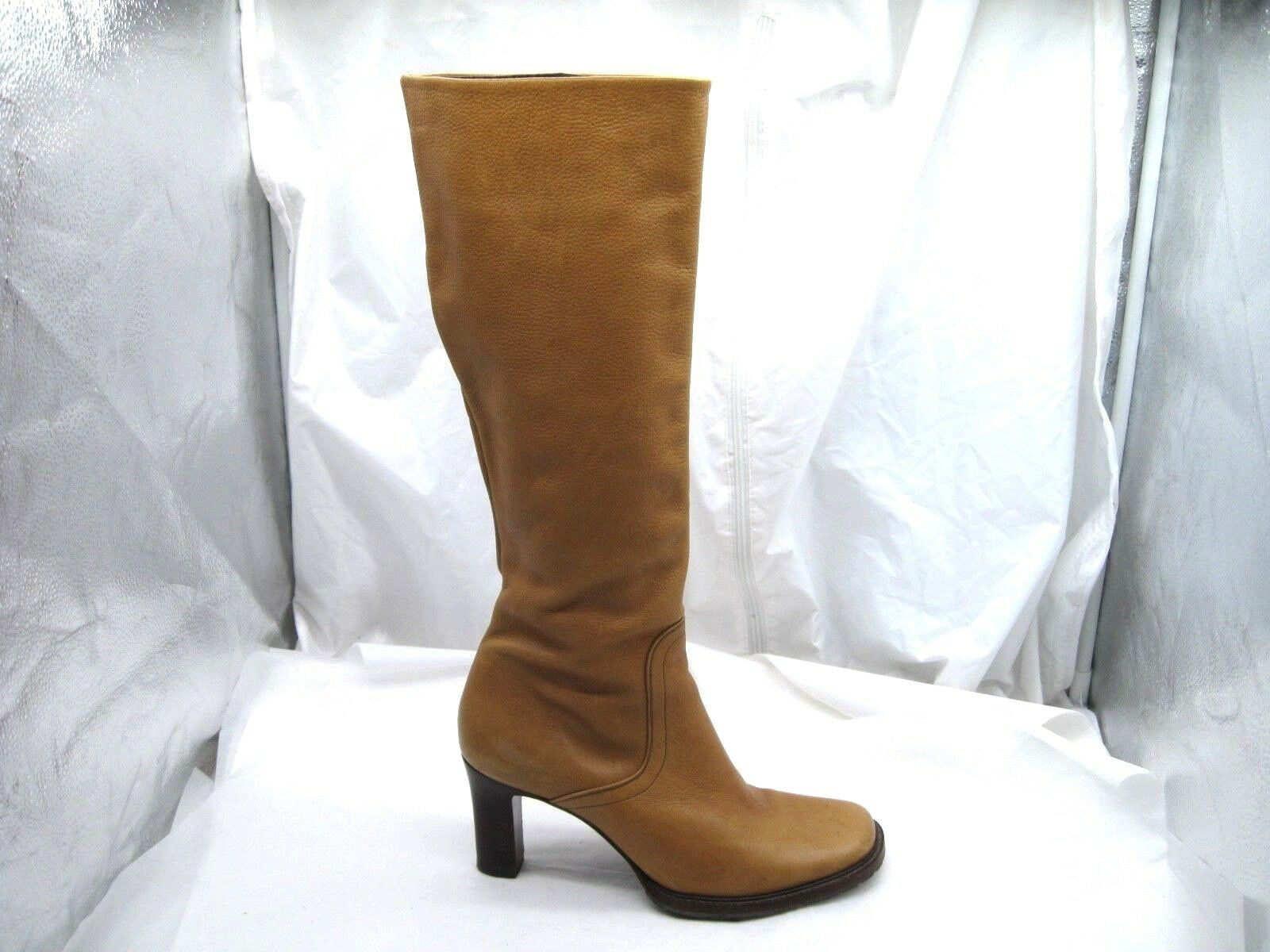 200 + Cole Haan Country 10B 41 caramel brown knee high Womens Boots shoes D13003