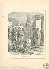 -390 Brennos Brennus Guerriers Gaulois Sac de Rome GRAVURE ANTIQUE PRINT 1896